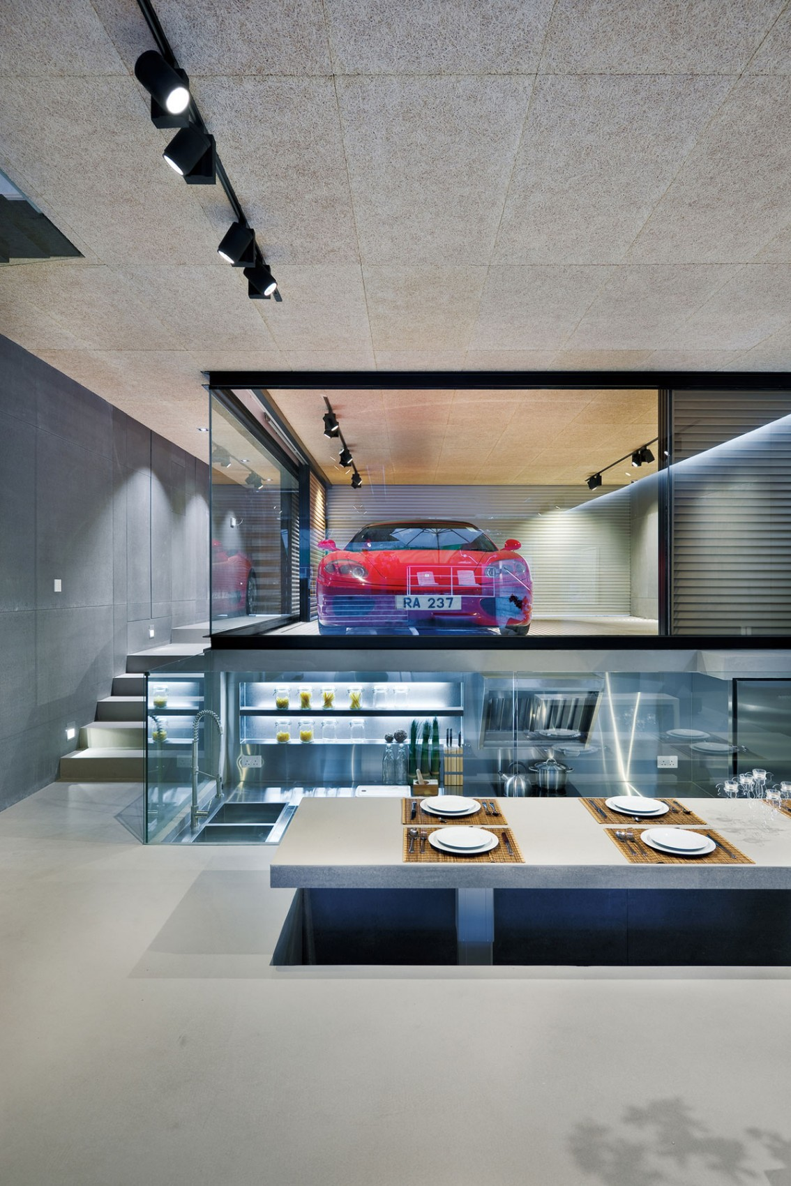 Elevated dining room design