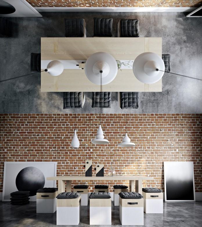 Brick dining room ideas