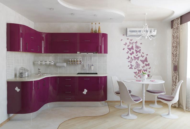 Feminine kitchen style