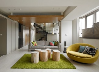 Living room with nature concept
