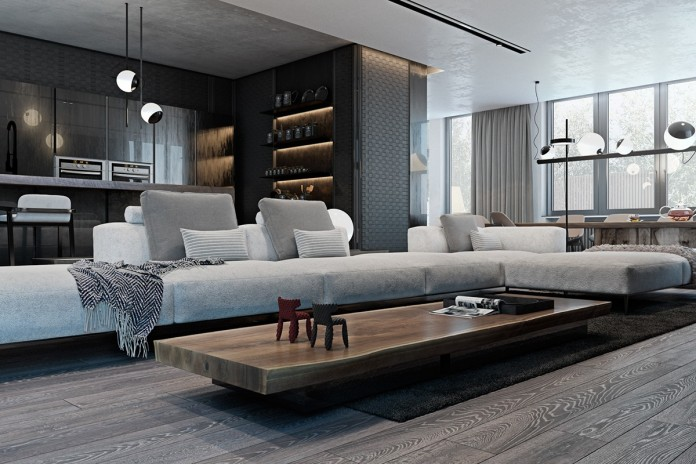 Amazing studio apartment decor with the dark styling for Interior designs by ria