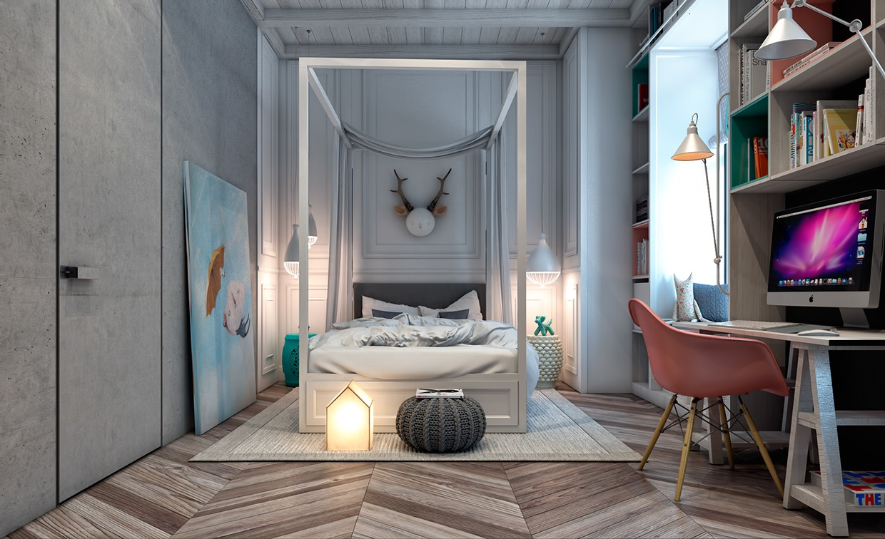 Creative bedroom design for teen