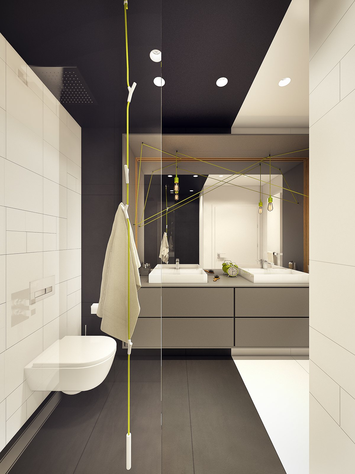 masculine gray bathroom design