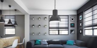 Living room design with black side
