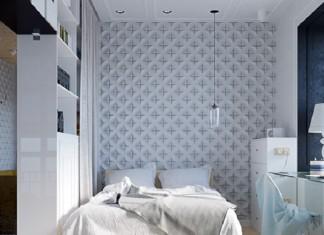 White Shades Design For Bedroom