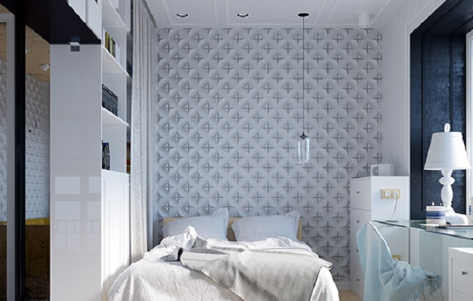 White Shades Design For Bedroom
