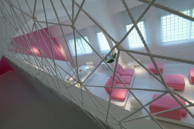 Unique space design with pink color