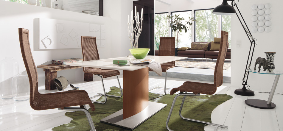 Modern and artistic dining set