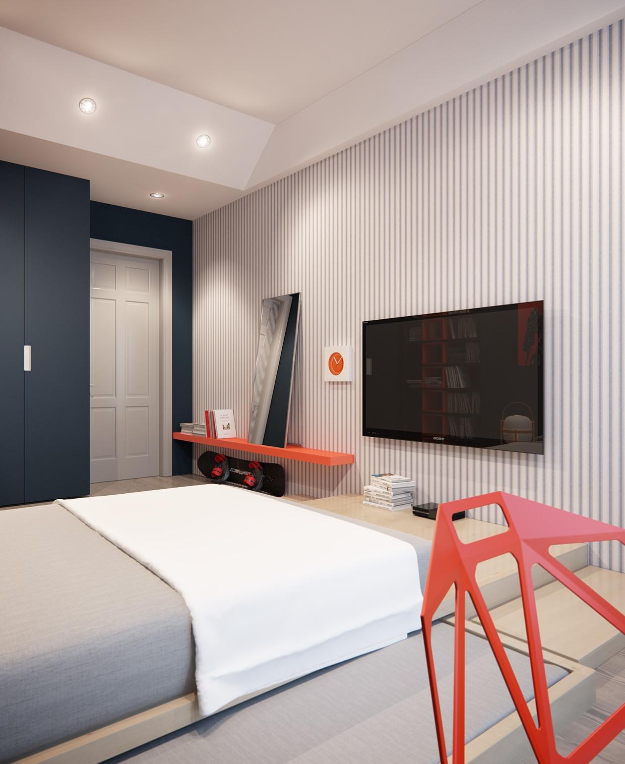 Modern and cool bedroom design