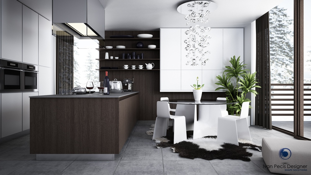 Modern and stylish kitchen dining area