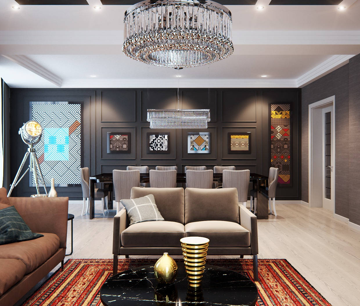 Home Interior Design: A Modern Interior Home Design Which Combining A Classic Decor That Would Bring Out A Trendy