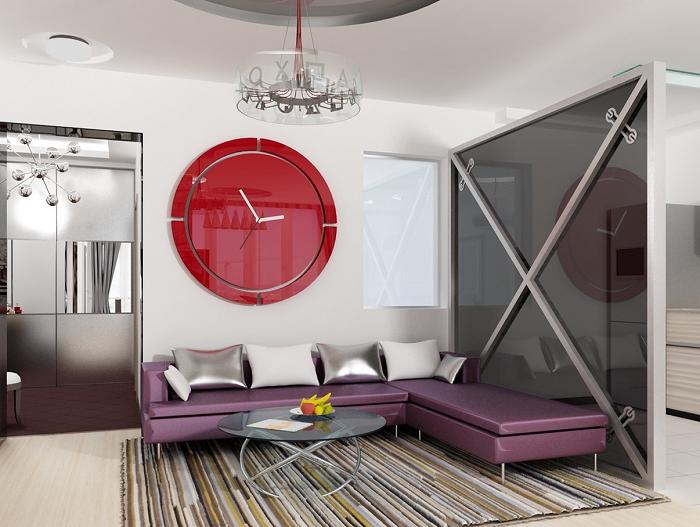Modern and feminine living room design