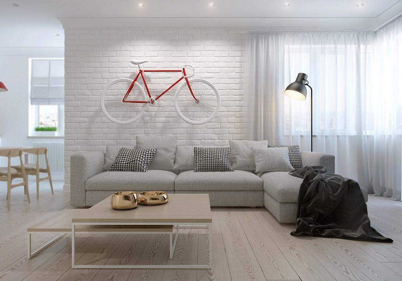 Creative Scandinavian living room design