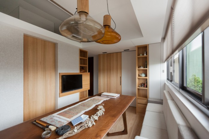 The Home S Designer At Folk Design Created The Asian Style Apartment