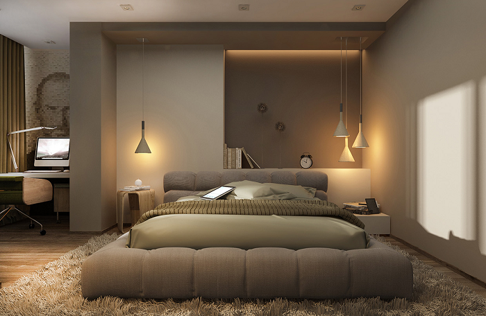Neutral bedroom decoration