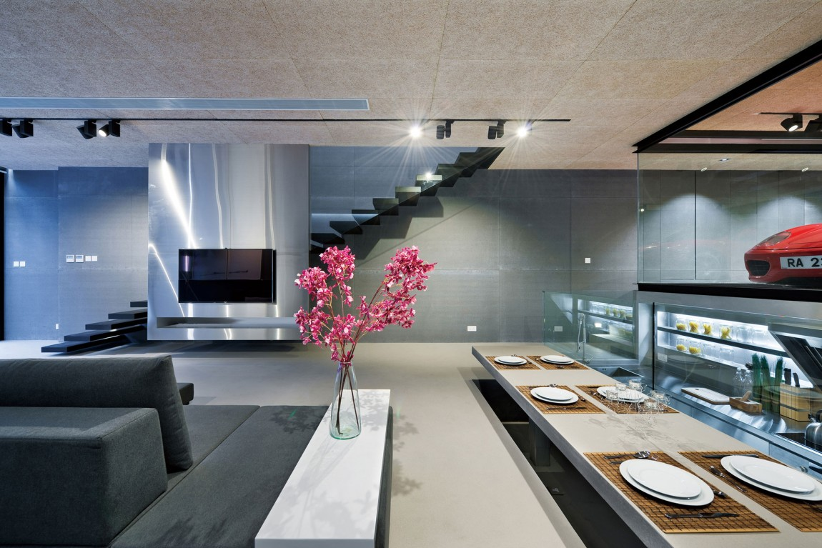 Open dining area for small space