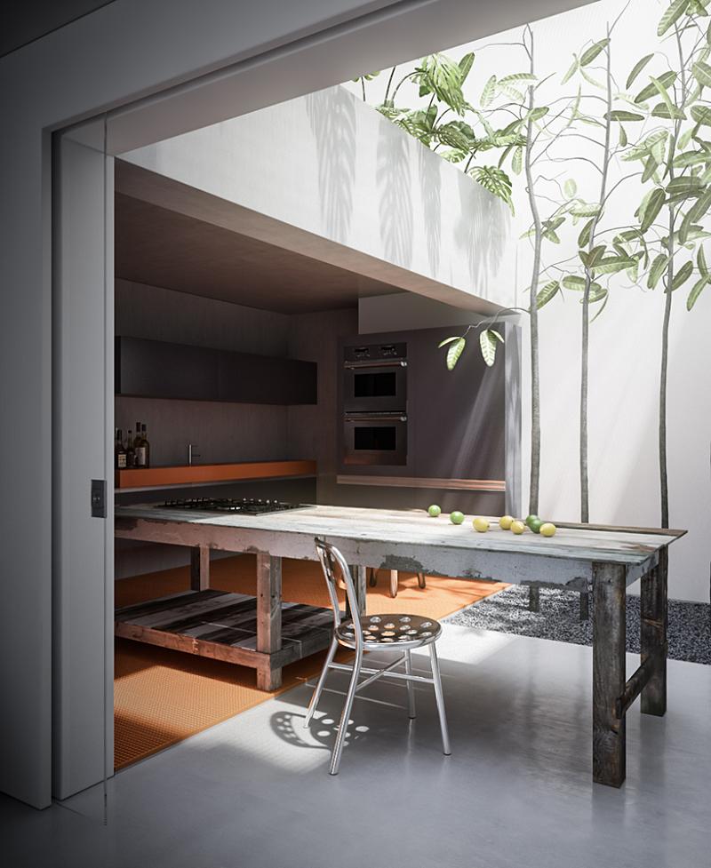 Outdoor dining room design