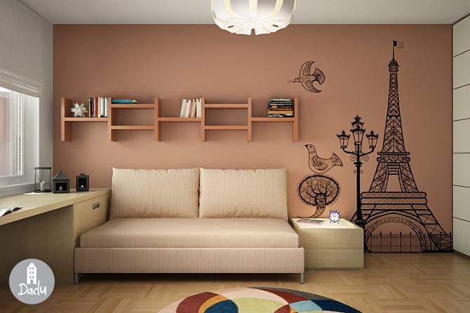 France Scheme To Decorate Kid's Bedroom