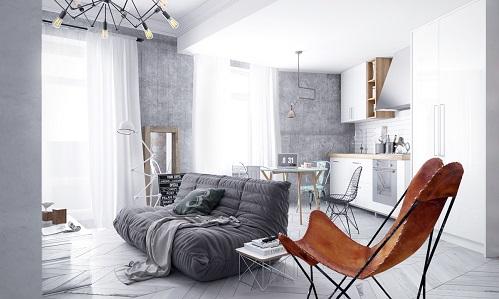 Creative Idea Of Luminous Loft For Apartment