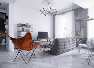 Luminous Loft Design For Apartment
