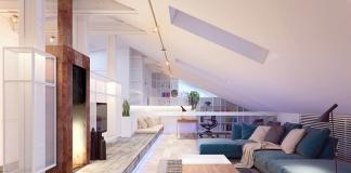Amazing living room design i the attic