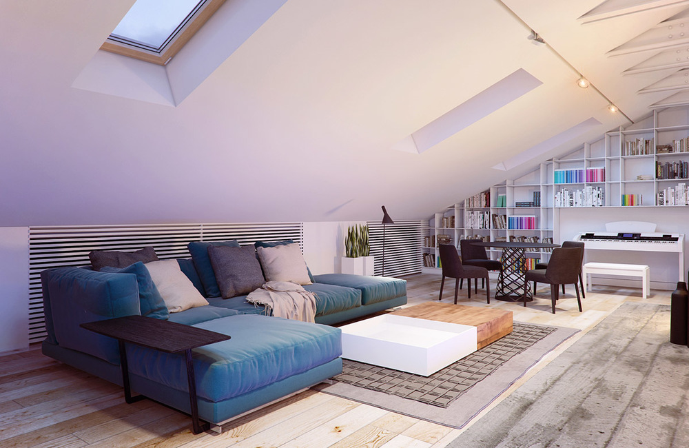 How to create an awesome pitched roof living room