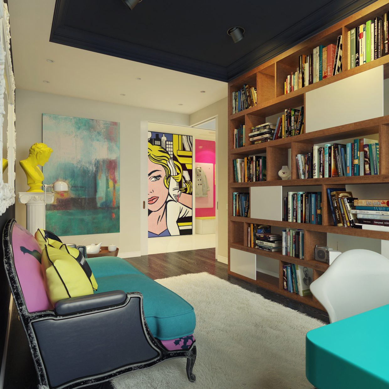 Pop art bedroom decoration