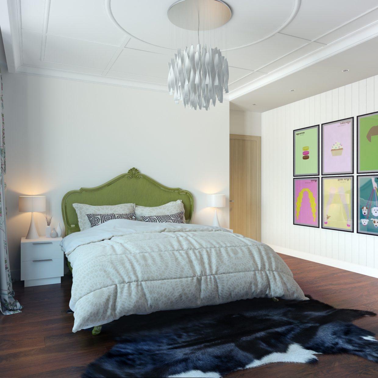 Pop art bedroom wall decoration