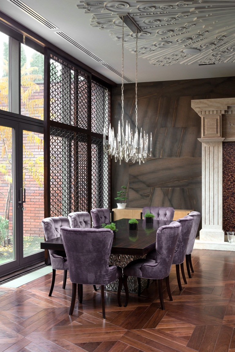 Purple dining room design