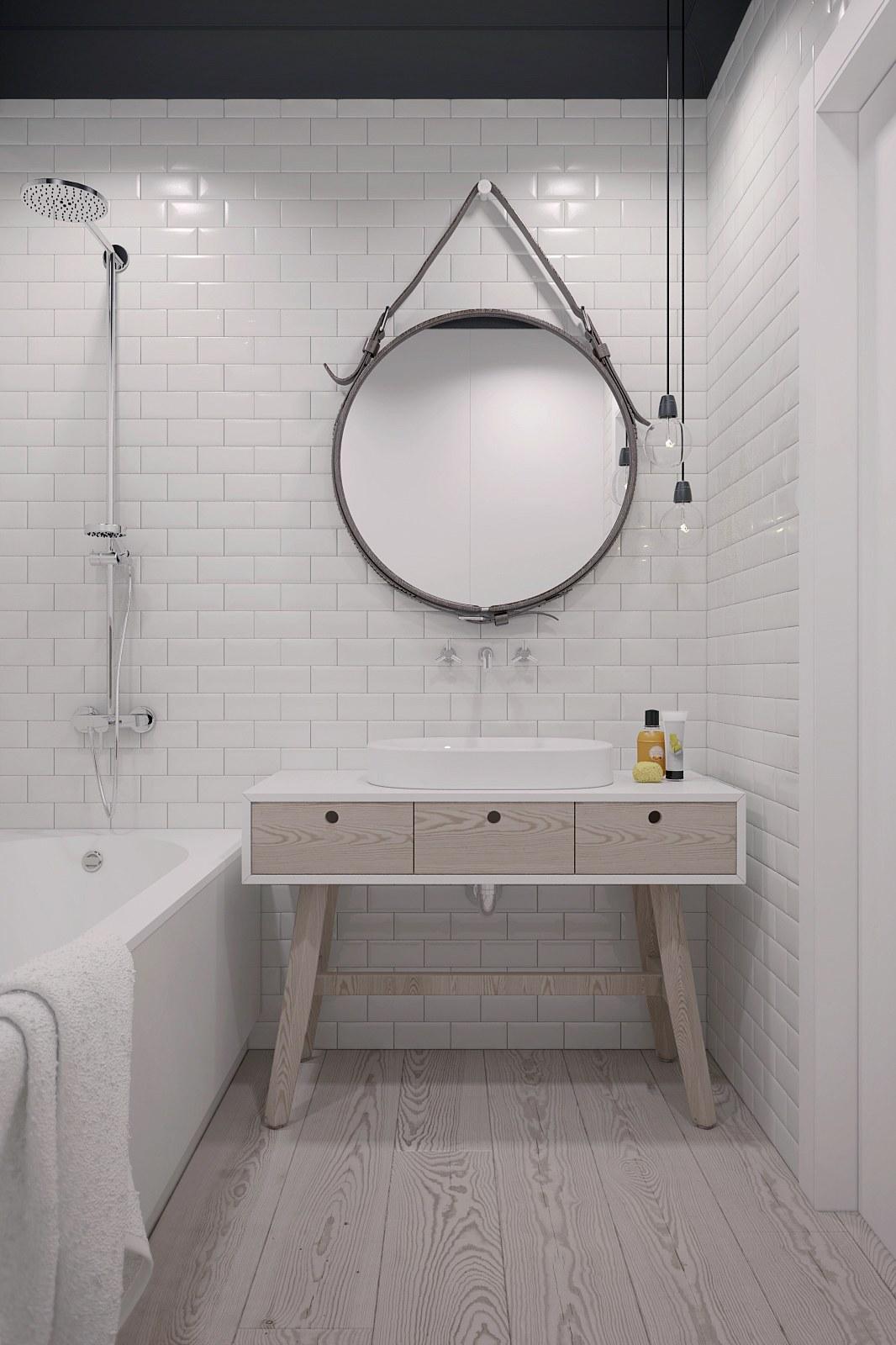 Simple bathroom decoration