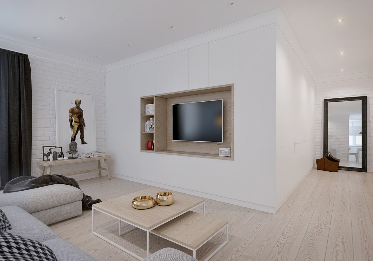 Simple living room decoration