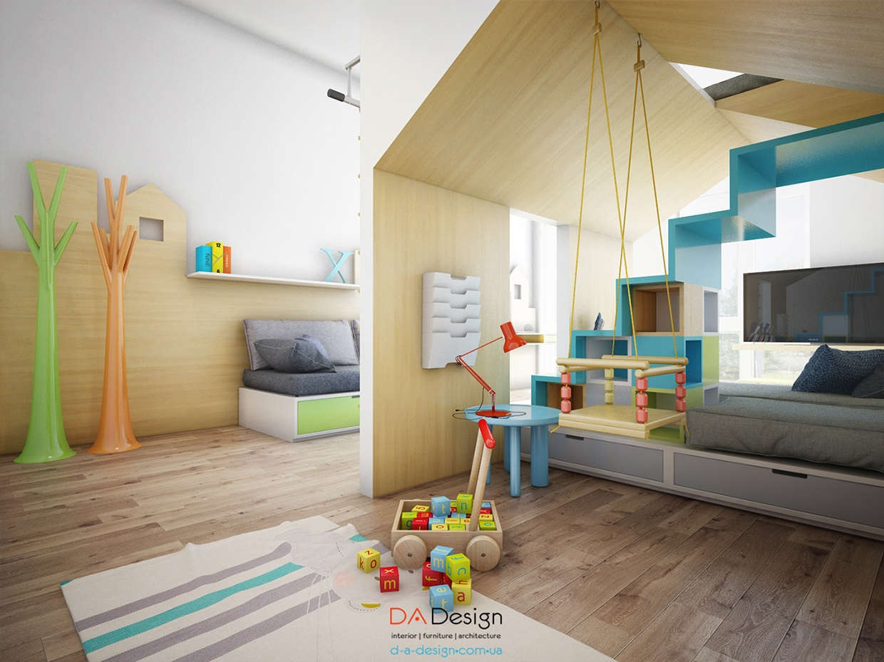 Playful Kids Room With Lots Of Fun Space And Cute Accents