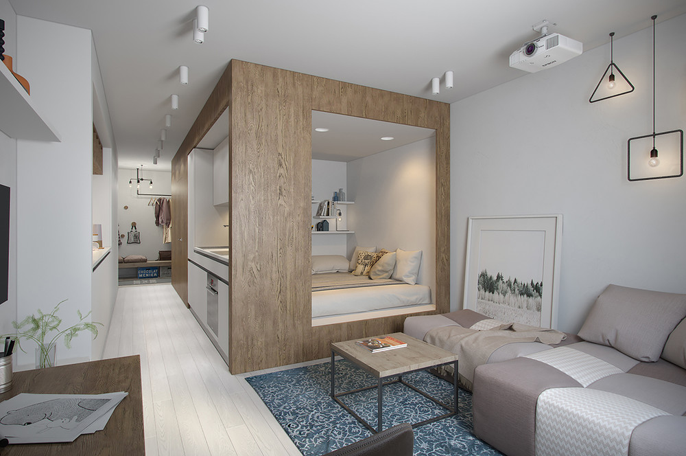 Captivating Small And Effective Apartment Design