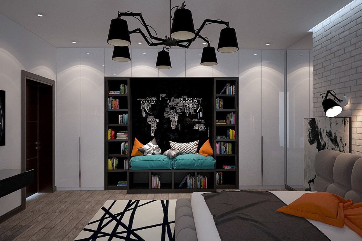 Lighting arrangement for teen's room