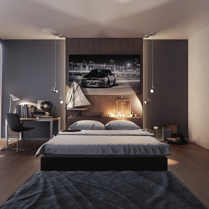 Sport bedroom design for teen