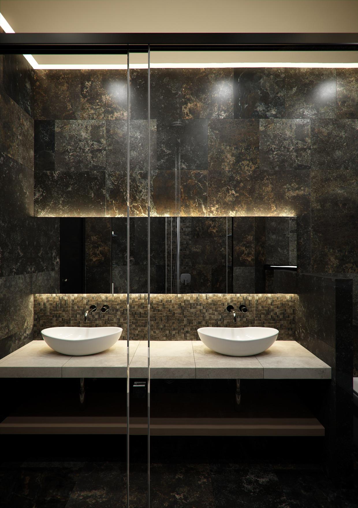 minimalist bathroom space