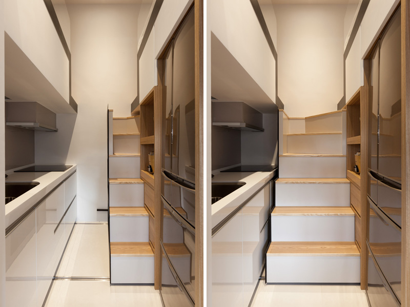 Minimalist asian apartment design that has been influenced for Super small kitchen ideas
