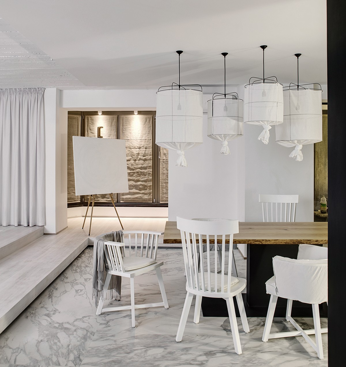 dining room ideas black and white