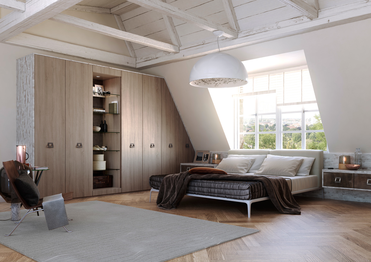 Wooden accent for decorating bedroom
