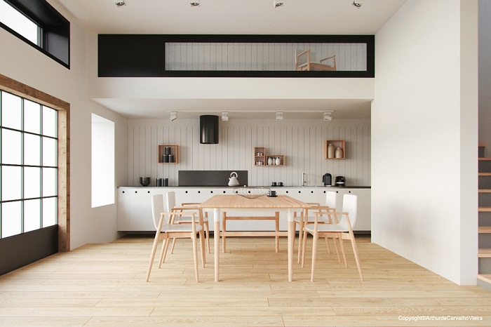 Wooden table for dining room