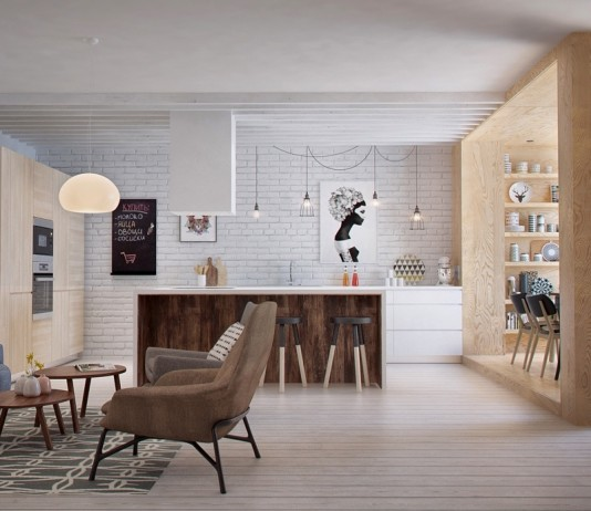 Wooden dining and living space ideas