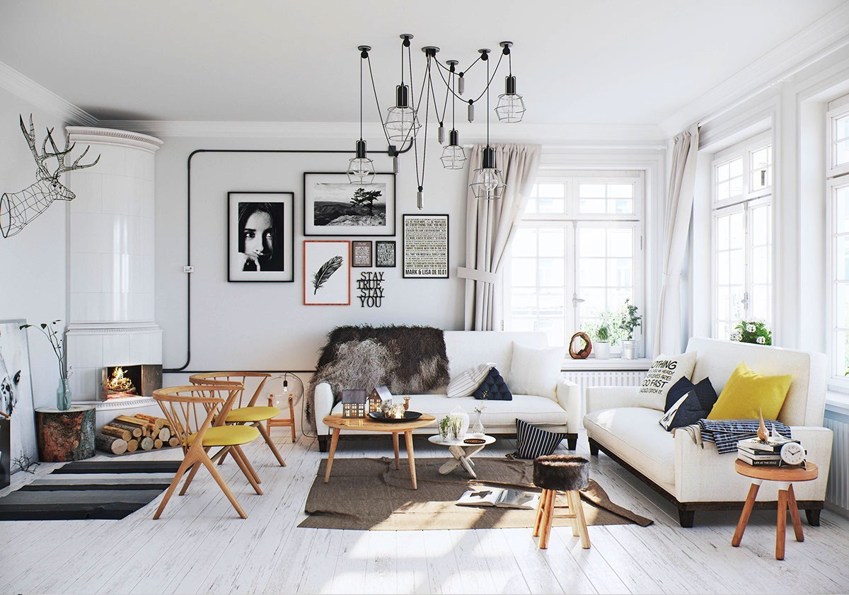 Scandinavian room interior ideas