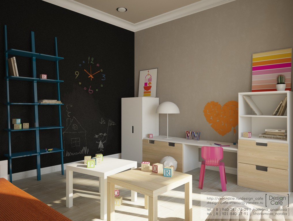 Young family apartment bedroom