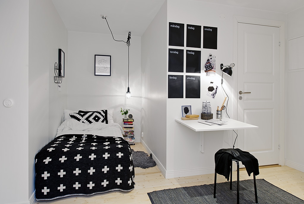Bedroom paint ideas black and white