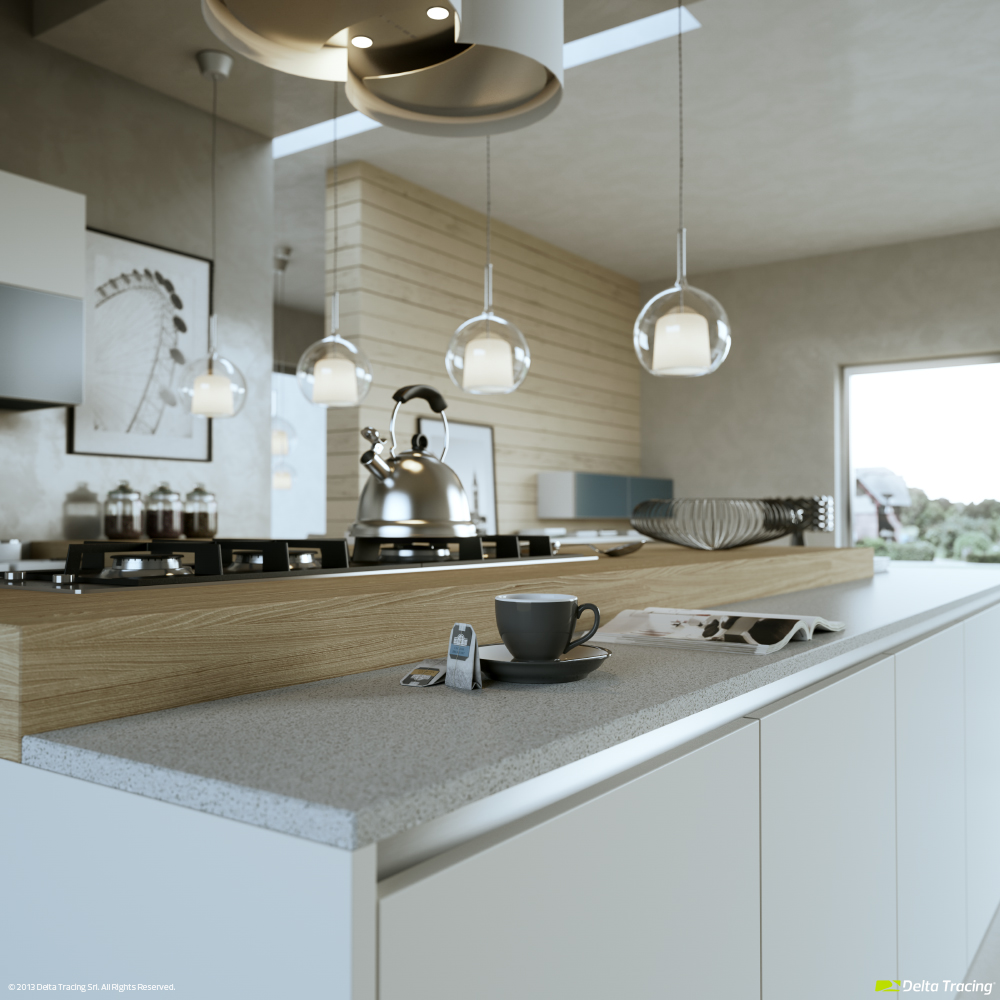 Modern kitchen layout and beautiful lighting roohome for Beautiful modern kitchens