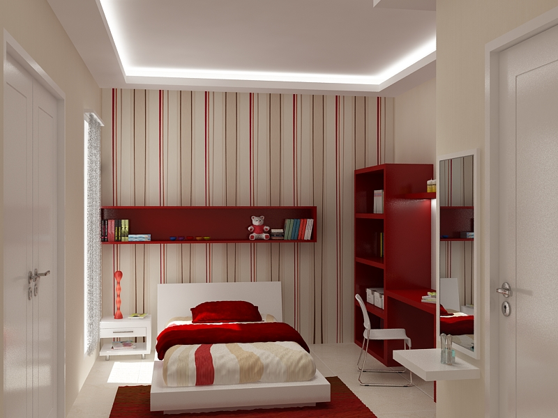 Red paint ideas for girl