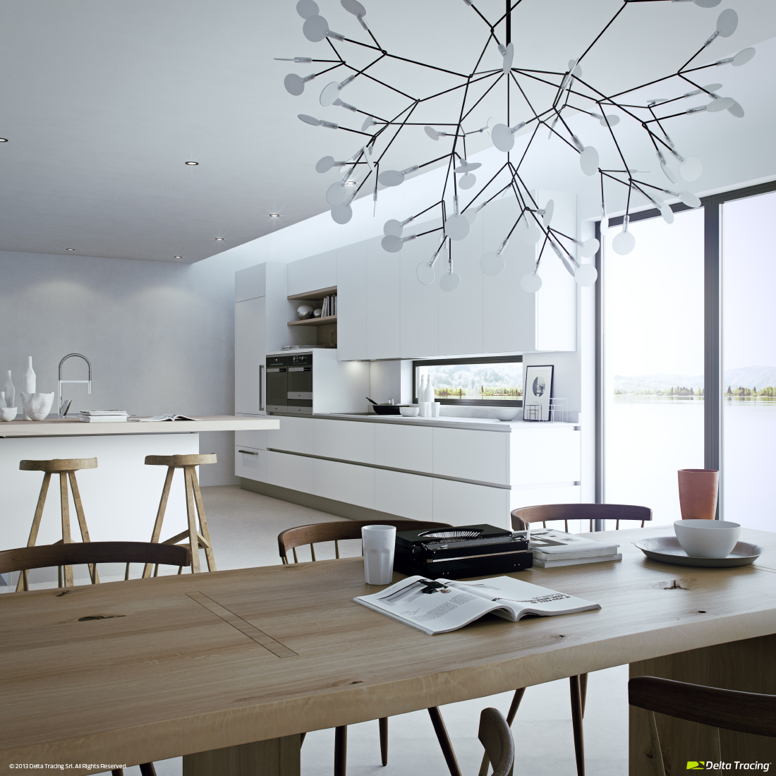 Modern kitchen layout and beautiful lighting roohome designs plans - Stunning modern kitchen lighting proper illumination style ...