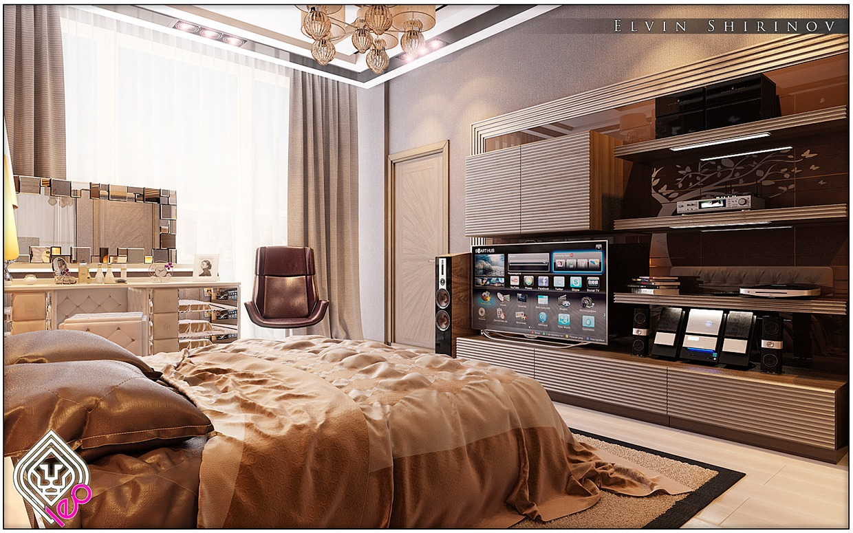 10 luxury bedroom themes and design ideas roohome for Designer bed pics