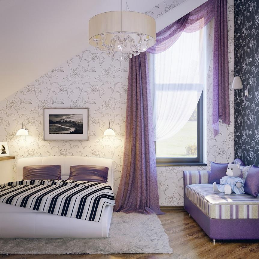 Purple bedroom paint ideas