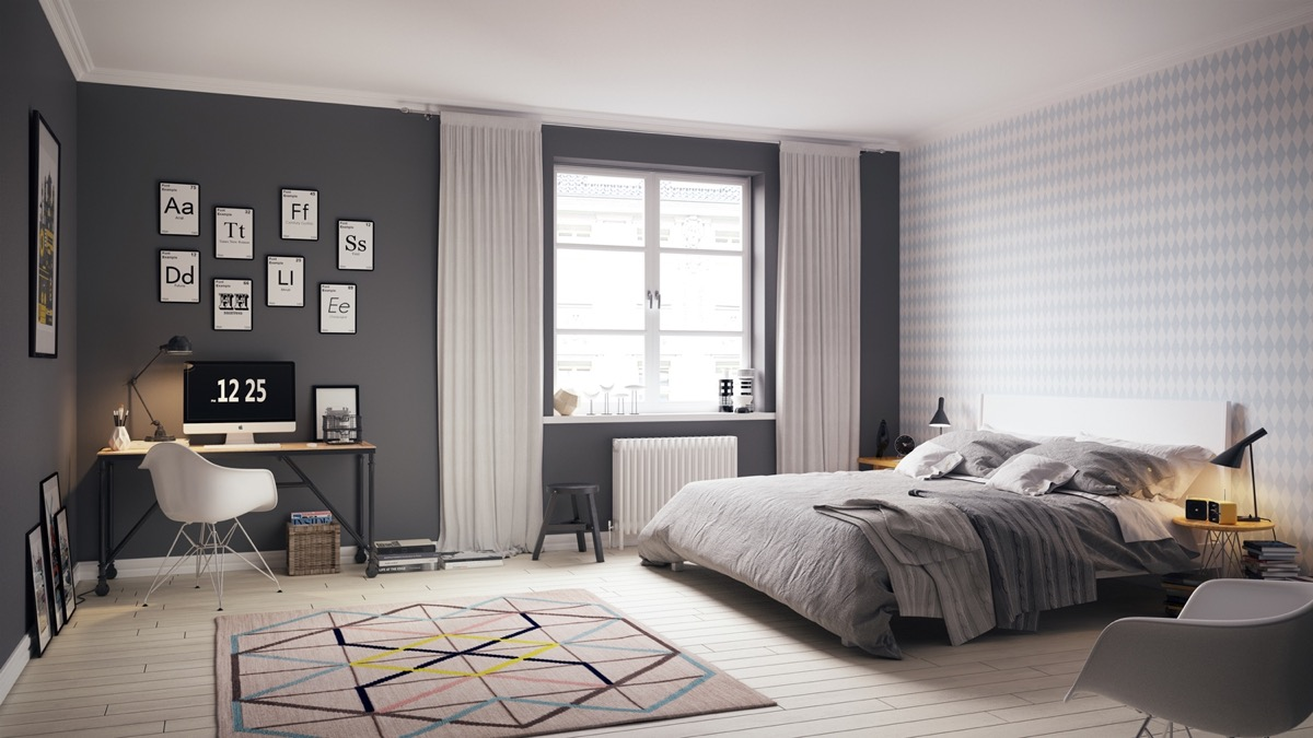 Scandinavian bedroom themes
